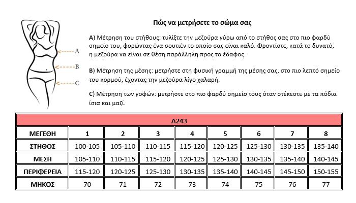 Μεγεθολόγιο Α243